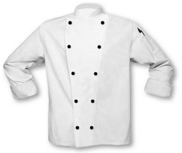 Chaqueta Chef Blanca Abotonada